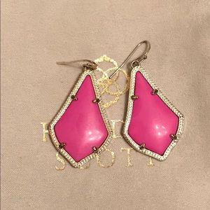 Kendra Scott Magenta Earrings